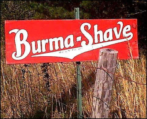 Burma Shave Logo. group burma shave waits